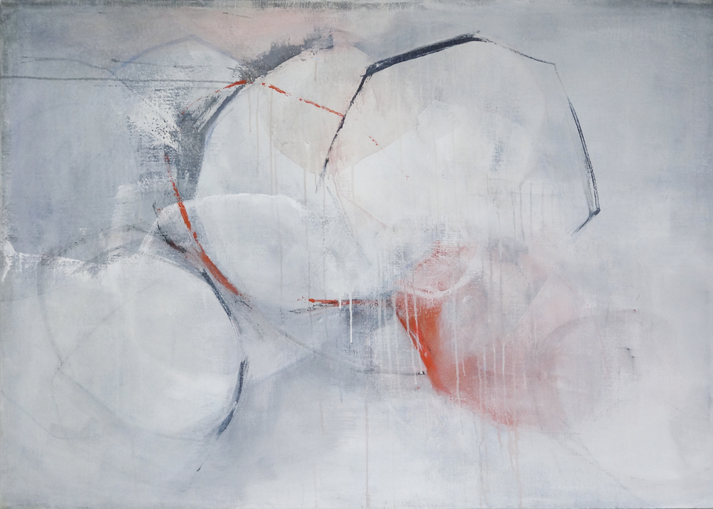Bild Nr. 036, o.T., Acryl/Graphit/Ölkreide/Leinwand, 2015, 100×140cm