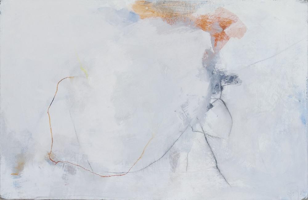 Bild Nr. 011, o.T., Acryl/Graphit/Ölkreide/MDF, 2012, 65 × 100cm