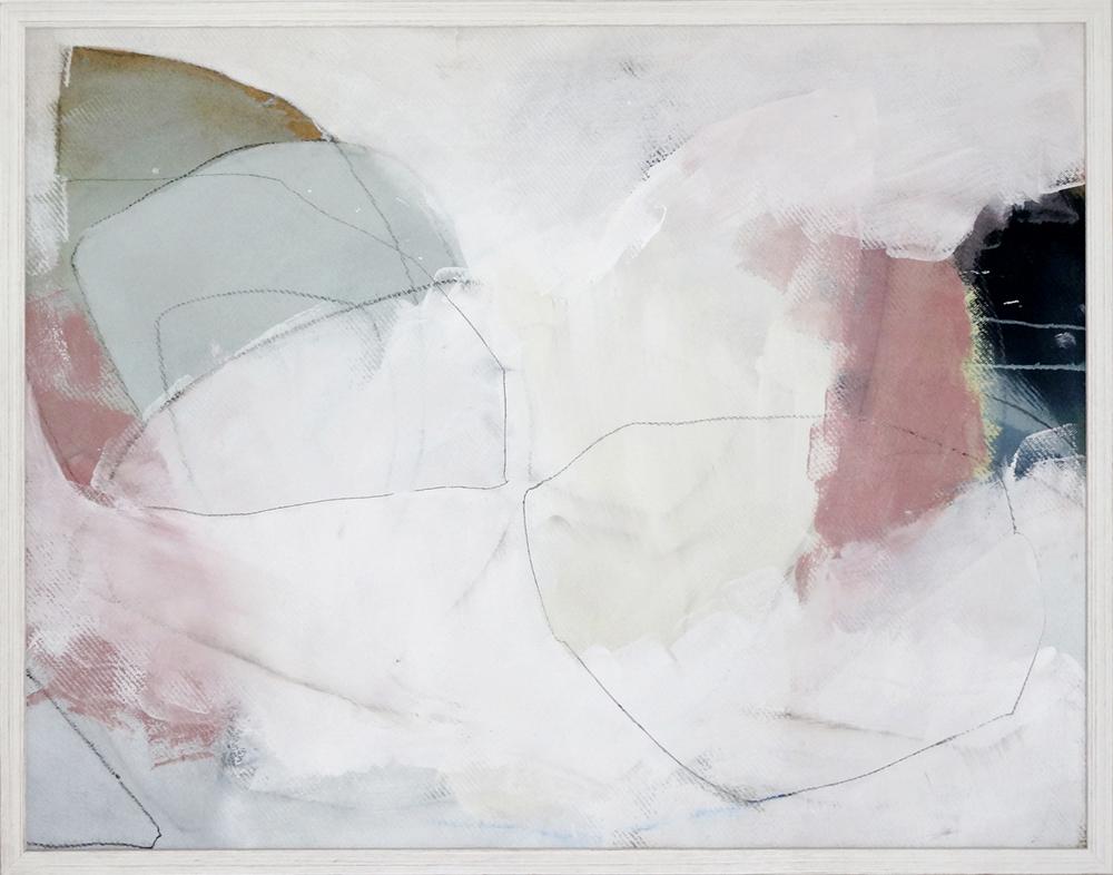 Bild Nr. 001, o.T., Acryl/Graphit/Ölkreide/MDF/gerahmt, 2012, 130 × 100cm