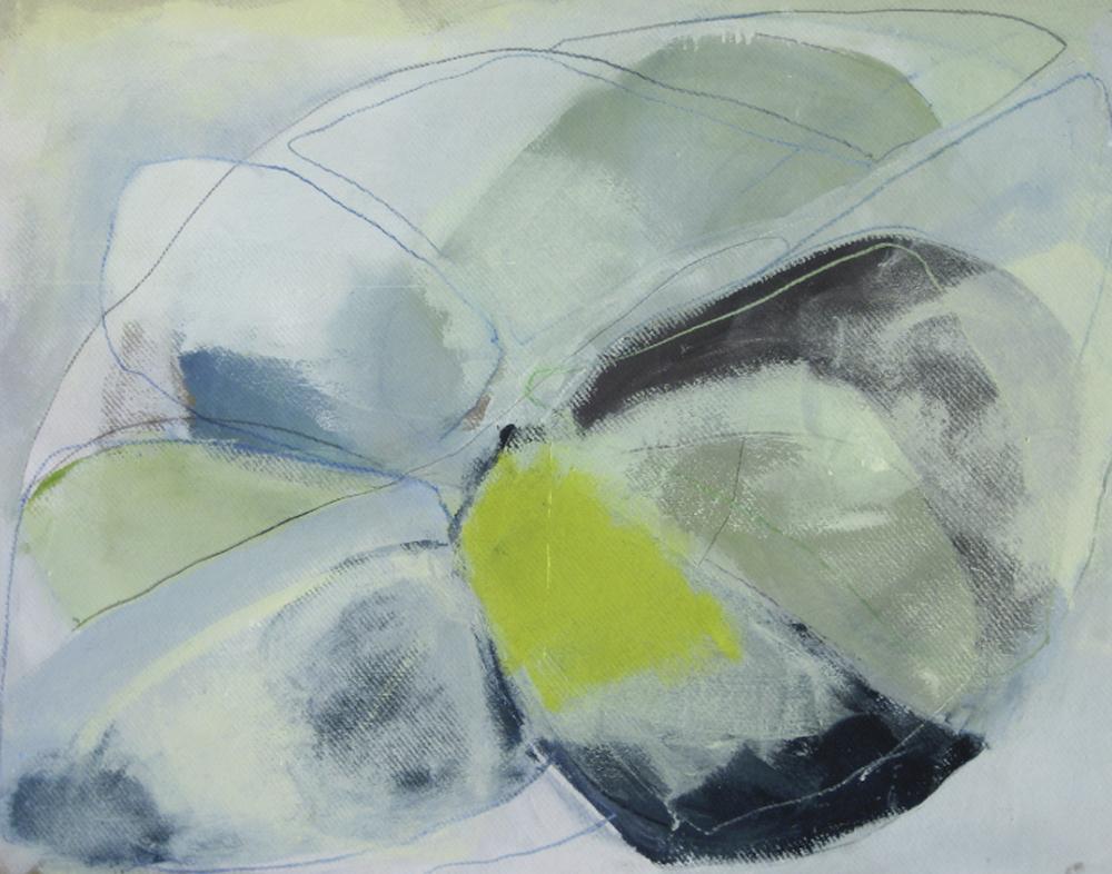 Bild Nr. 004, o.T., Acryl/Graphit/Ölkreide/MDF, 2012, 100 × 130cm