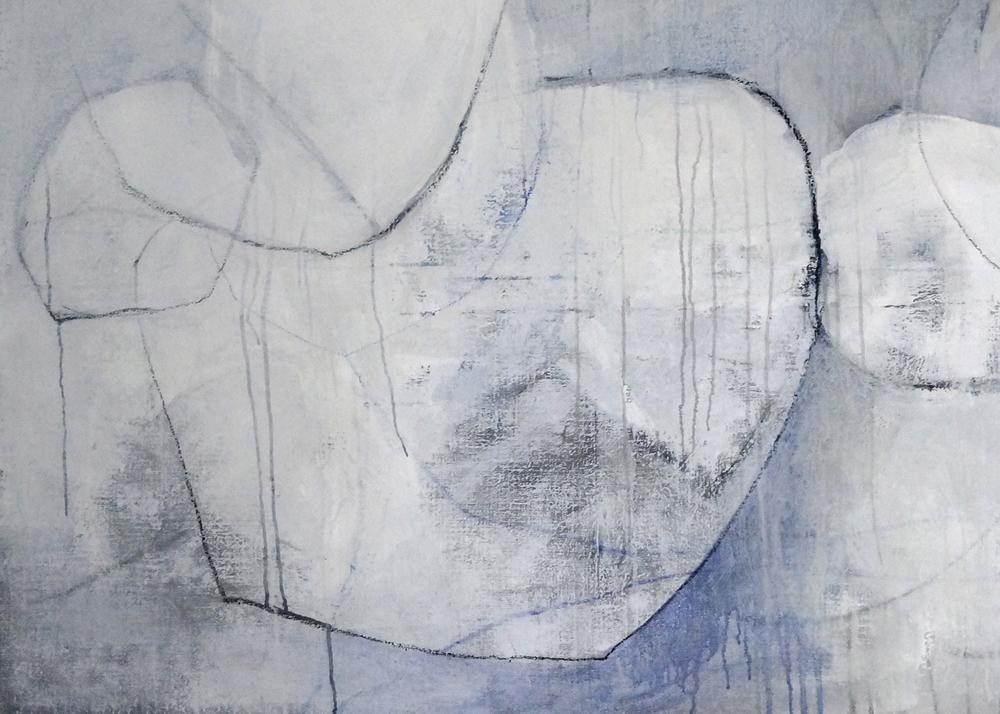 Bild Nr. 038, o.T., Acryl/Graphit/Ölkreide/Leinwand, 2014, 100×140cm _verkauft