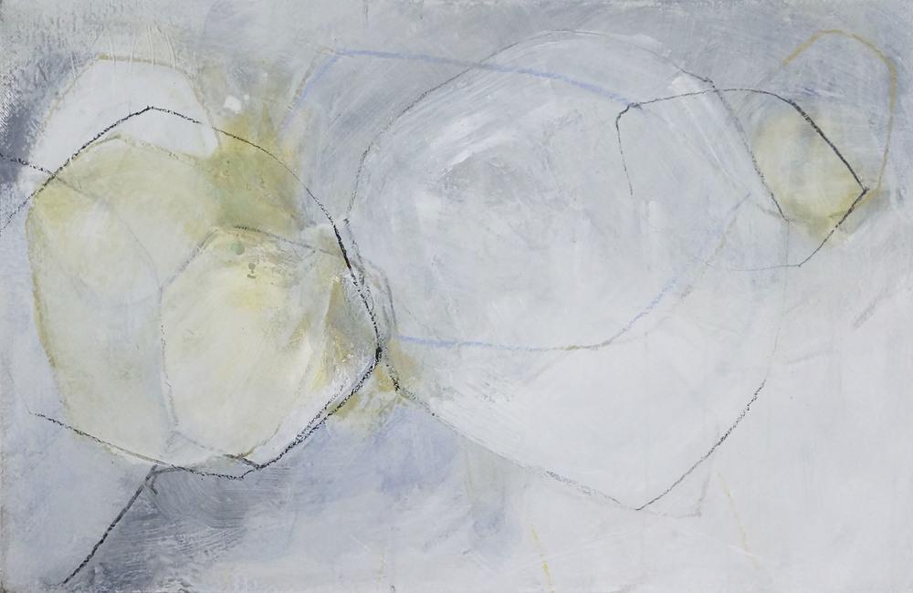 Bild Nr. 027, o.T., Acryl/Graphit/Ölkreide/MDF, 2015, 65 × 100cm