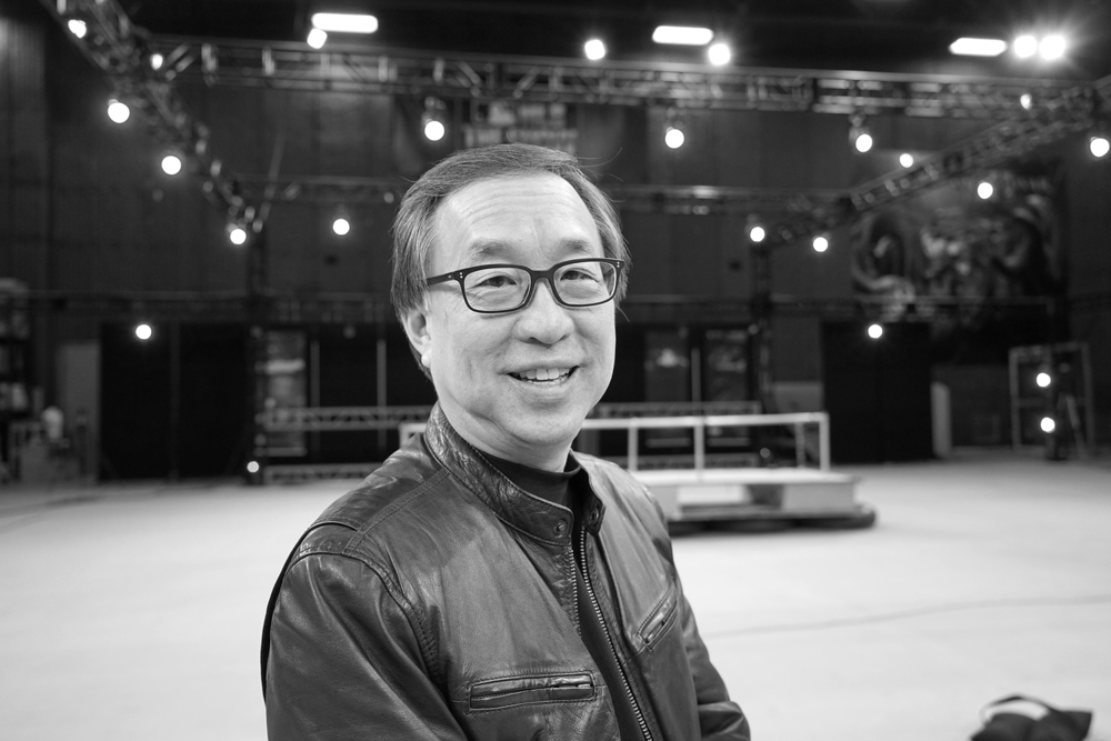 Dan Chun, Producer, Inspire Media Lab on-set for performance capture production.