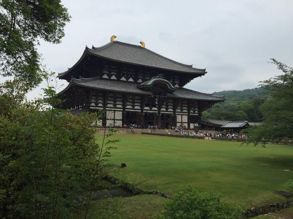 The Todaiji Temple that houses the world's largest bronze Buddha statue. The temple is a listed UNESCO World Heritage Site as a Historic Monument of Ancient Nara.