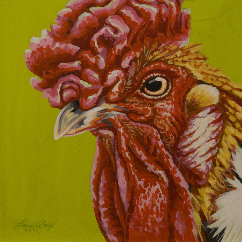 Orange Rooster, completed 8/2/15.