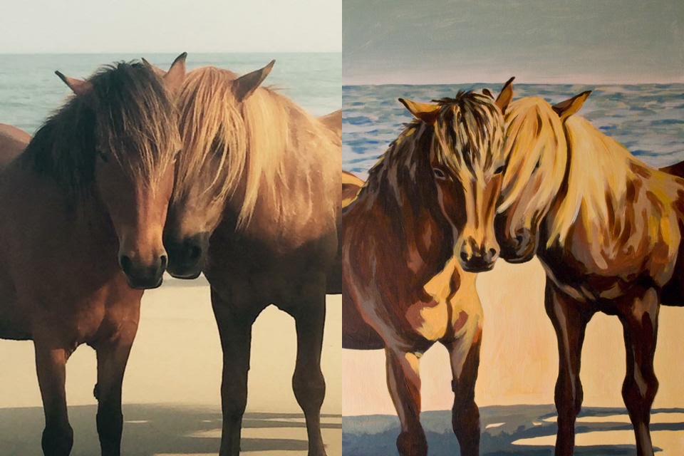 Assateague Wild Ponies, for Martha Nguyen