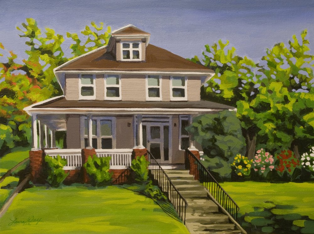 One of my latest, a commission of a friend's great grandmother's home.