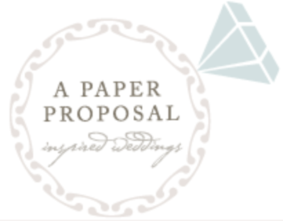 A Paper Proposal - Romantic Blush and Crimson Wedding in Florida