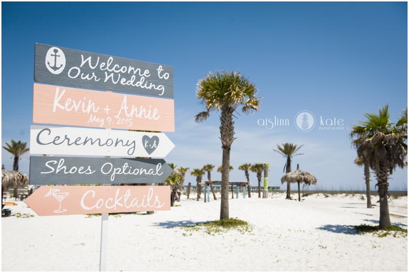Margaritaville Beach Hotel    Beach Ceremony Site    Annie + Kevin