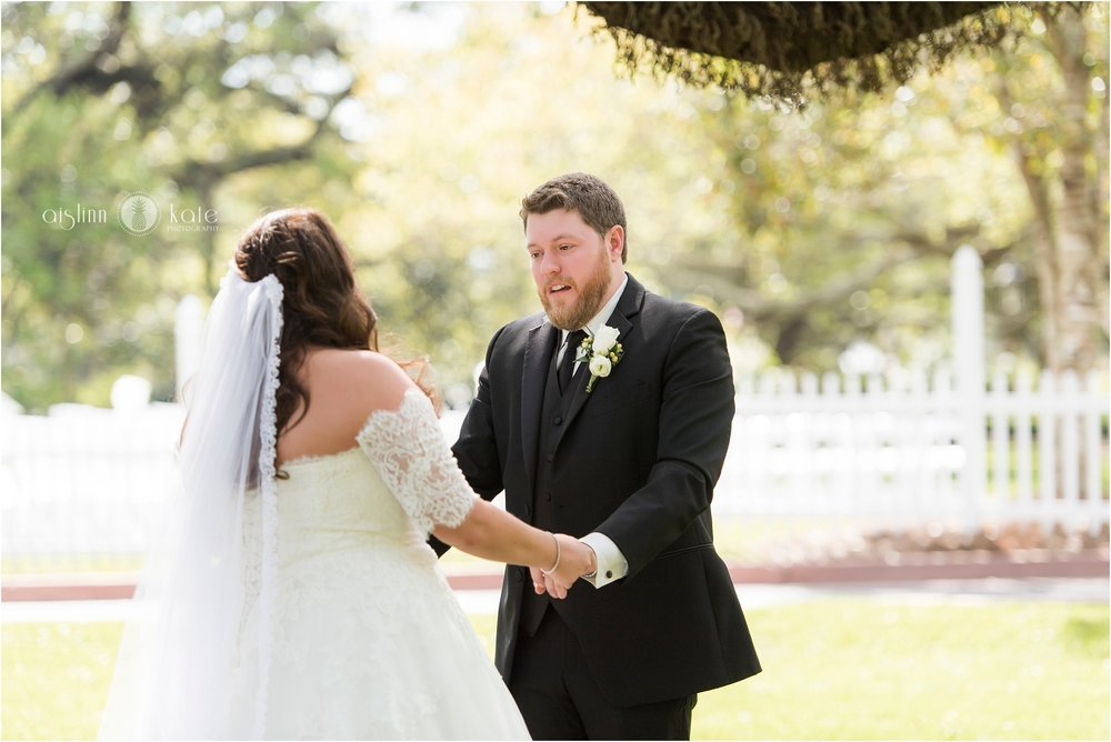 The Grand Lawn at The Grand Hotel Marriott Resort  | Point Clear First Look |  Sarah + Brandon