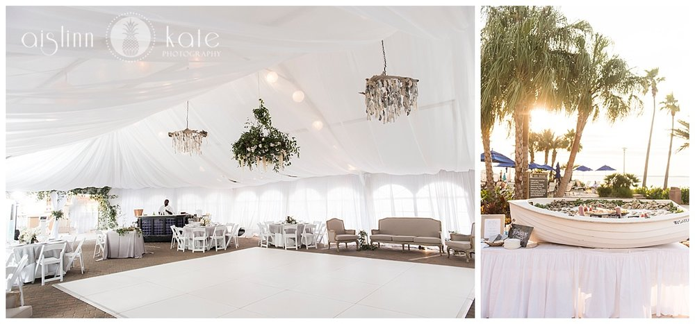 Portofino Island Resort  | Tented Reception Site |  Caroline + Joiner