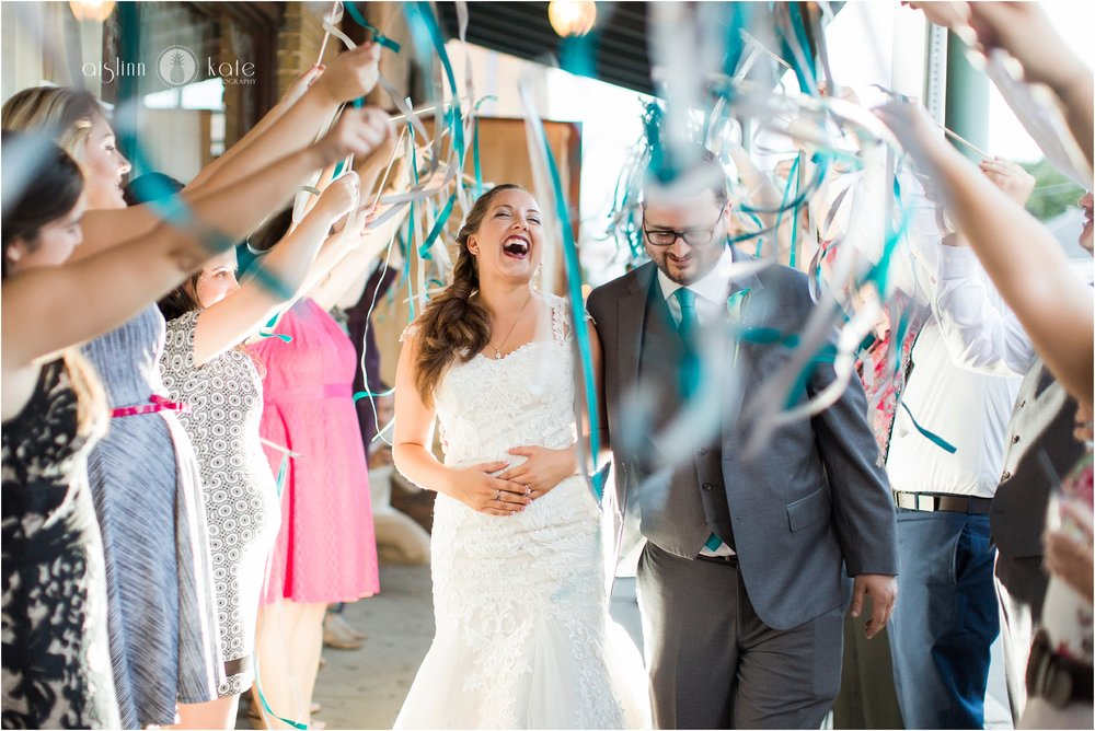 Seville Quarter : Heritage Hall  | Ribbon Wand Grand Exit |  Melissa + Kamron