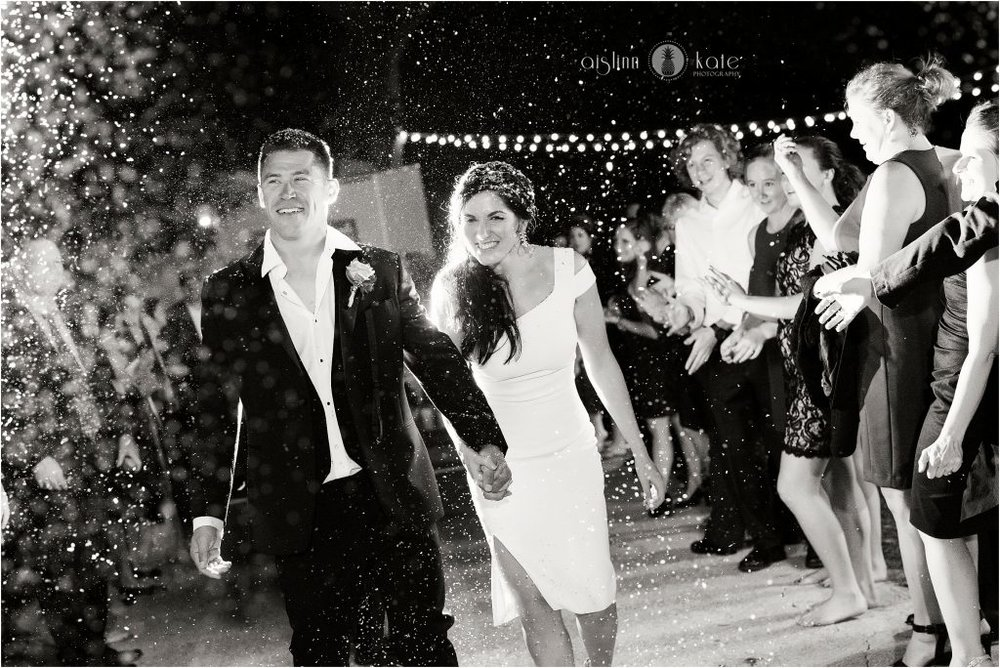 Private Estate | Confetti Grand Exit |  Nikki + John