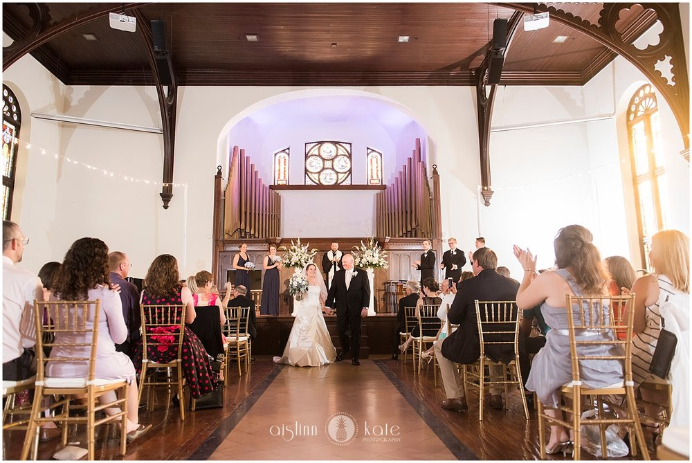The Steeple on St Francis  | The Main Hall |  Karen + Jeff