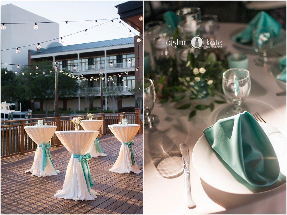 Palafox Wharf  | Outdoor Reception |  Taylor + Justin