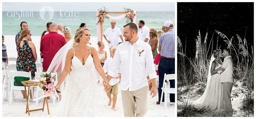 Pensacola Beach | Outdoor Reception |  Ariel + Michael