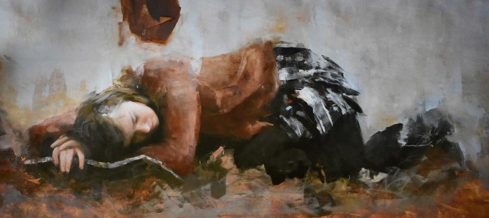 "Fairy Tales, Oil on Canvas, 48"" x 24"""