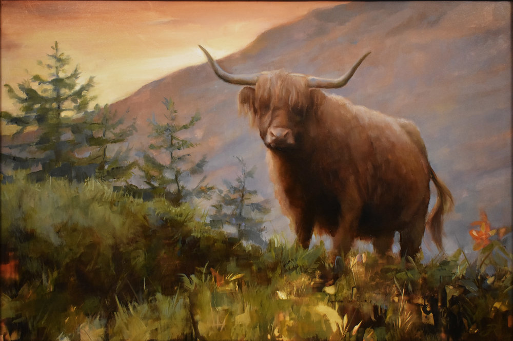 The Highlands, Oil on Panel, 2019