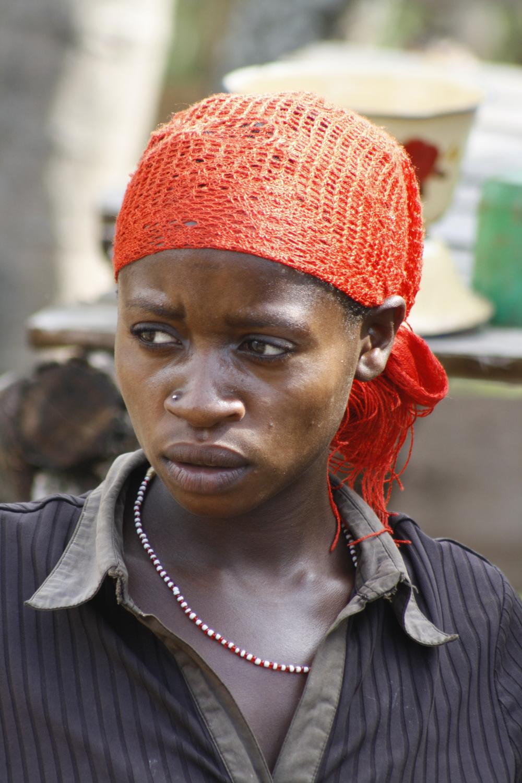 Batwa woman, Kanungu, Uganda