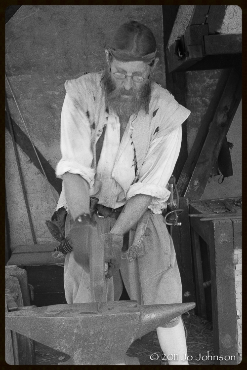 Mike Campbell, Festival Park Blacksmith Reenactment (2011)