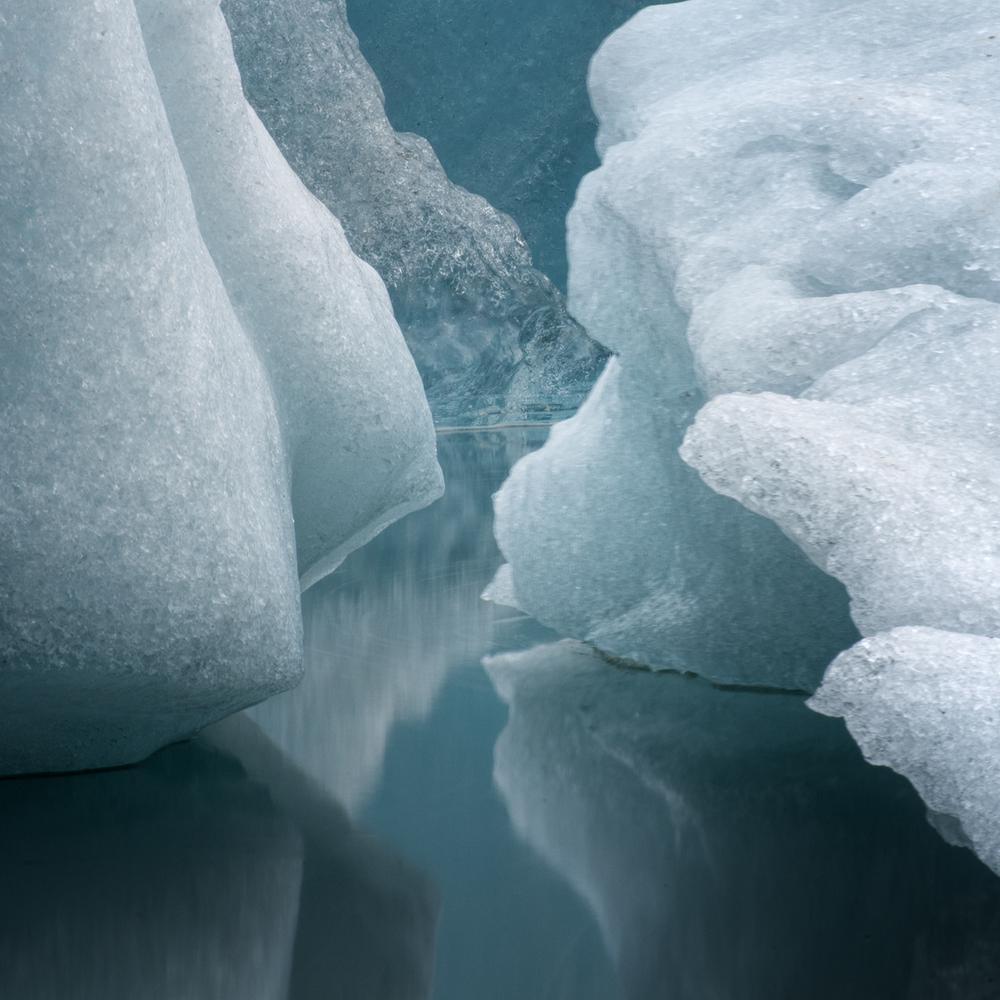 Looking into the heart of the iceberg, Jokulsarlon Lagoon, Iceland  (Photo Credit:   Louise Shoemaker)