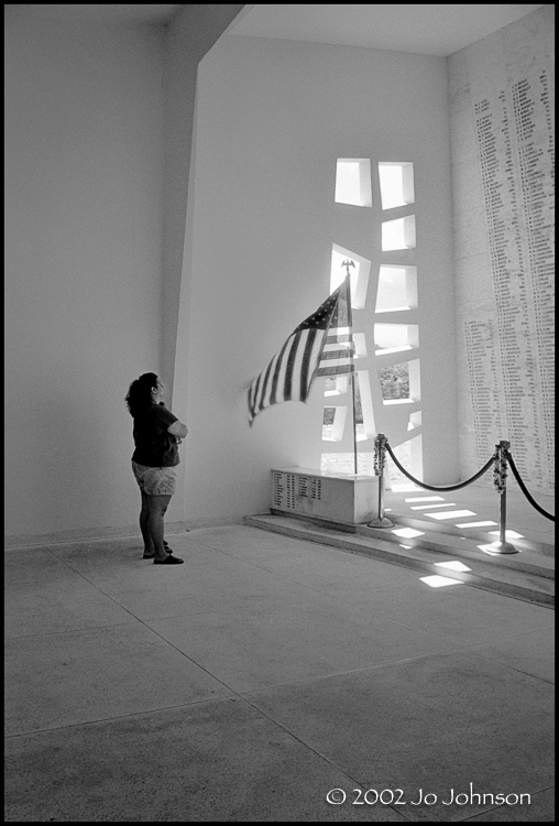 Solemn moment. USS Arizona Memorial Pearl Harbor, HI