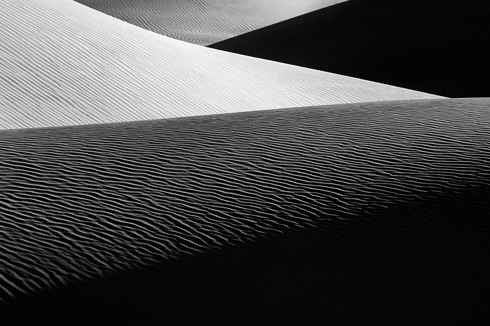 Mesquite Flat Dune Abstract - Death Valley CA  (Photo Credit: John Barclay)