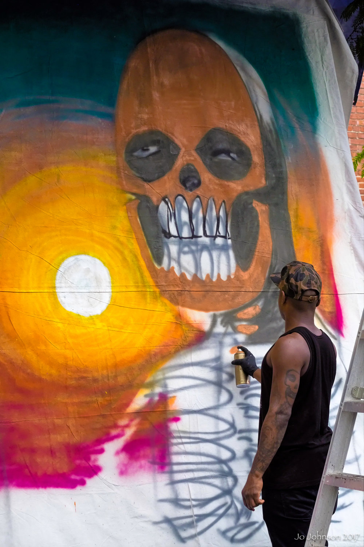 """Mural Painter @ Art All Night"" - Trenton, NJ"