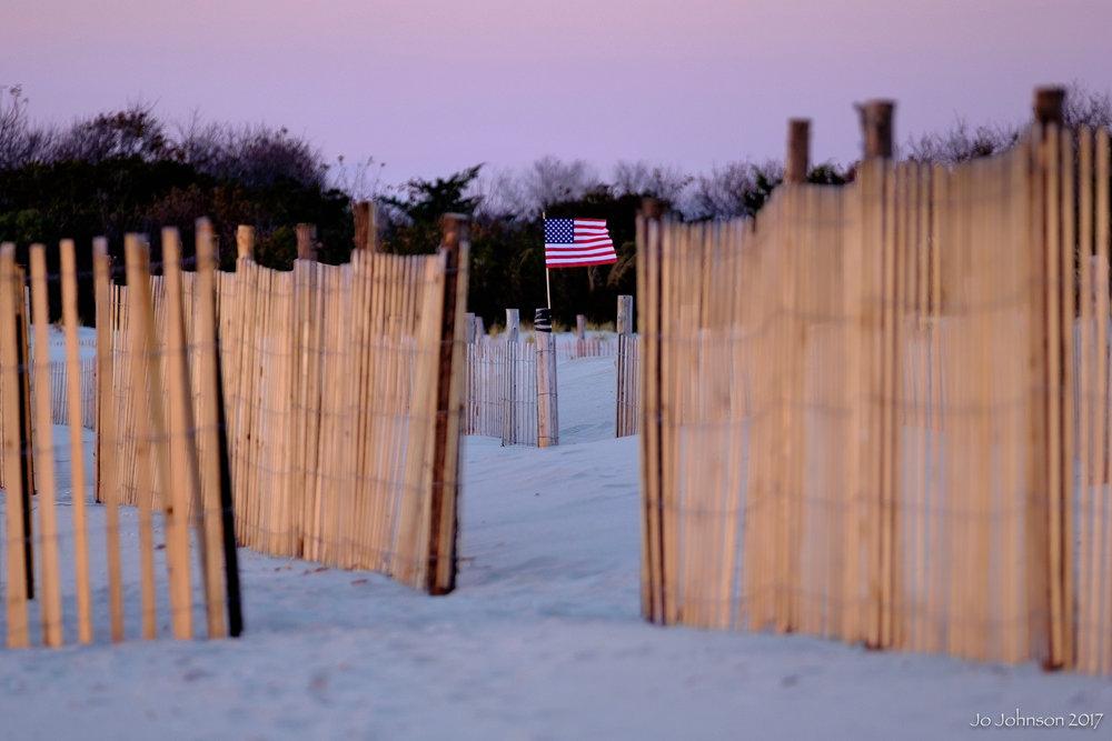 """""""Flag on the Beach"""" - Cape May, NJ"""