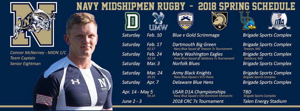 Navy Rugby Spring Schedule 2018