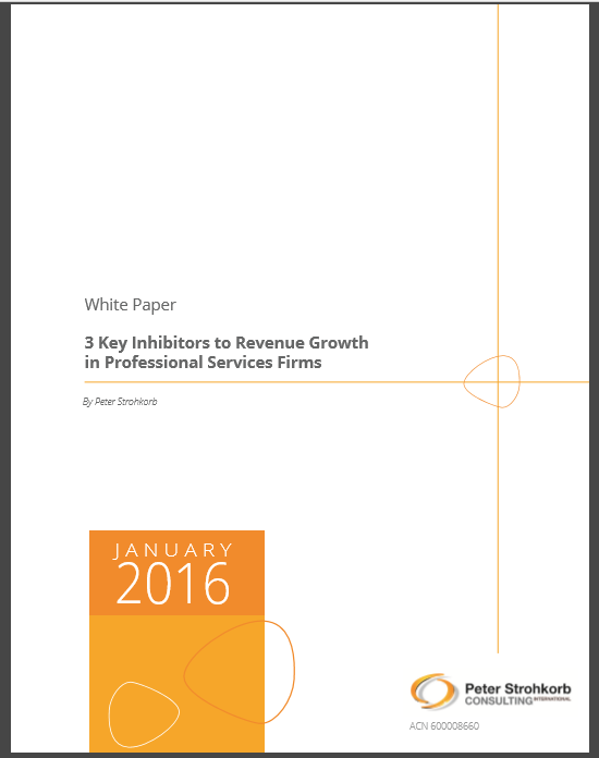 "White Paper ""The 3 Key Revenue Inhibitors in Professional Services Firms"""