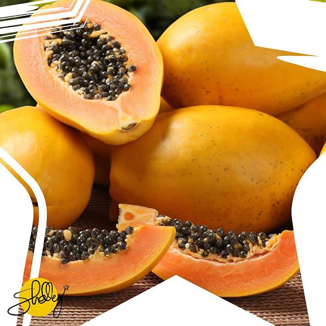 Papaya is a wonder fruit! Not only can you eat the juicy flesh, try eating a couple of the seeds, too. Also, use directly on your skin by scooping out 2 tbsp and mixing it with honey for a 5-10 minute brightening mask.  #papaya