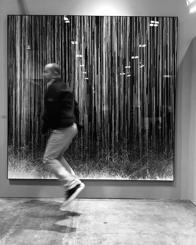 Making a splash in the artificial rain. #robertodutesco #singaporecontemporary #dayspringartgroup #notaonetrickpony