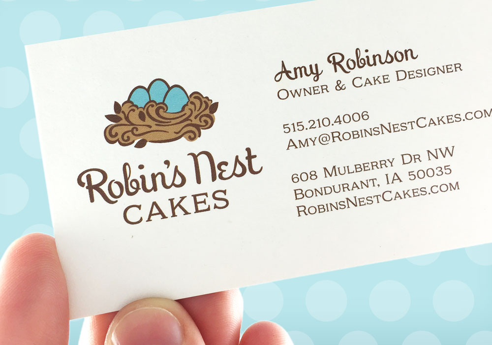 Logo and Visual Identity Robin's Nest Cakes