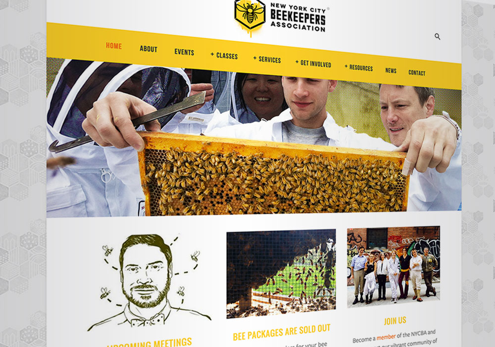 Website Design New York City Beekeepers Association