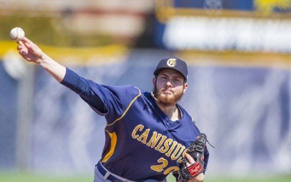 RHP Devon Stewart (Maple Ridge, BC) pitched 7 1/3 innings as the Canisius Griffins defeated the George Mason Patriots for the first time in school history.