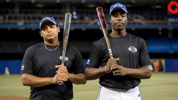 Teammates on Canada's junior national squad, Demi Orimoloye (right) and Josh Naylor are looking forward to the 2015 MLB amateur draft, which should see both selected in the early rounds.