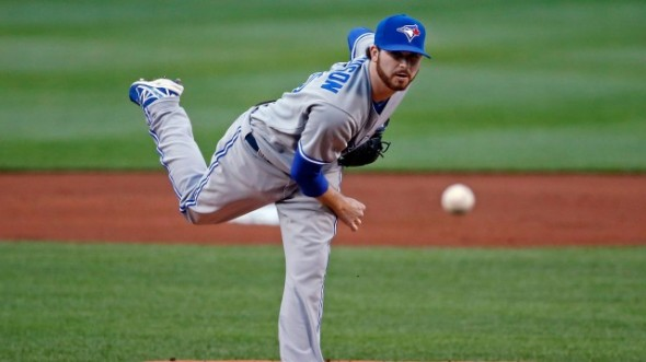What does it say about the Blue Jays rotation — when R.A. Dickey, Mark Buehrle, Drew Hutchison (above) and Aaron Sanchez, have higher ERAs than the starters at triple-A Buffalo Randy Wolf, Scott Copeland, Andrew Albers and Chad Jenkins?