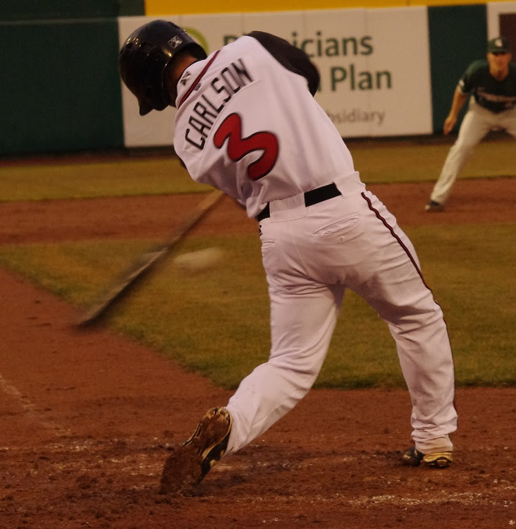 Chris Carlson had three RBIs as class-A Lansing edged Daytona.