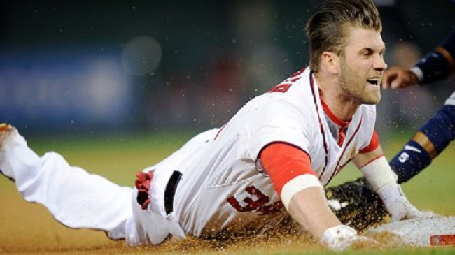 If you had your pick of young major leaguers, who would you chose? Mike Trout or Bryce Harper (above)?