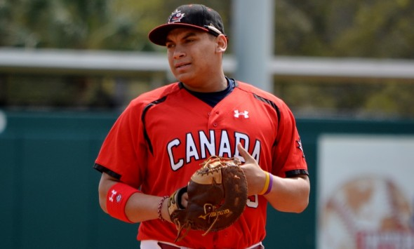 Josh Naylor appears with the Canadian Junior National Team. Photo: Jacques Lanciault