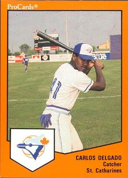 Before he played for the Toronto Blue Jays, Canadian Baseball Hall of Fame inductee -- next weekend -- Carlos Delgado played at class-A St. Catharines.
