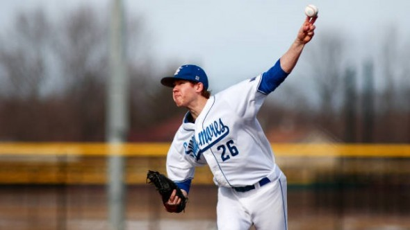 Jeff Degano, now a draftee of the New York Yankees, pitches for the Indiana State Sycamores.