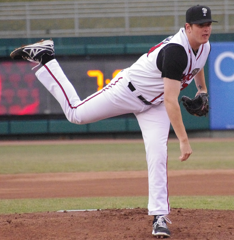 RHP Jeremy Gabryszwski allowed one earned run in seven innings for double-A New Hampshire. Photo: Jay Blue.