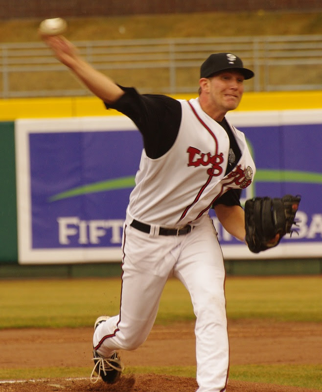RHP Justin Shafer pitched seven scoreless as class-A Lansing edged the Great Lakes Loons 1-0. Photo: Jay Blue.