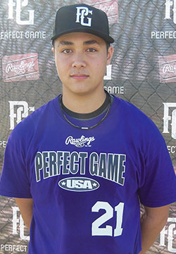 C Andrew Yerzy (Toronto, Ont.) of the Toronto Mets was at the Perfect Game USA National Showcase in Fort Myers, Fla.