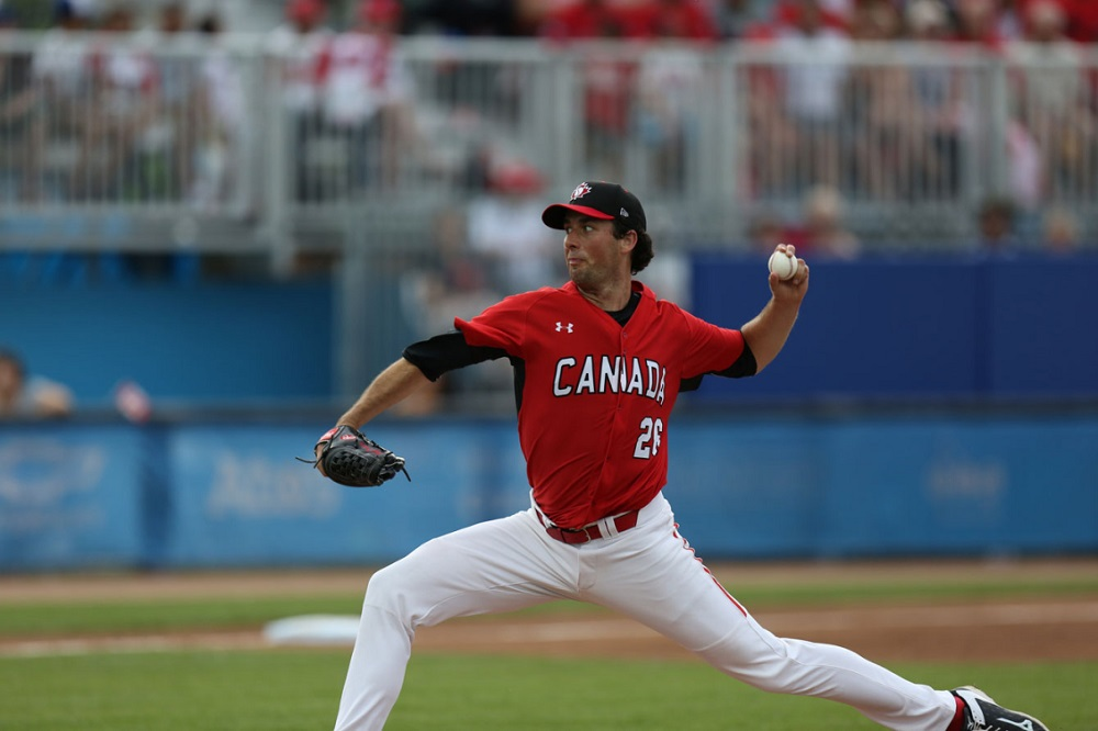 LHP Jeff Francis pitched seven innings leaving with the score tied, then Andrew Albers worked 2 1/3 innings as Canada captured gold in the Pan Ams. Both are Blue Jays farmhands hoping to get to Rogers Centre.