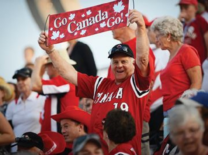 Canada had plenty of fan support and nine hits but only one run in a 3-1 loss to Team USA Friday.