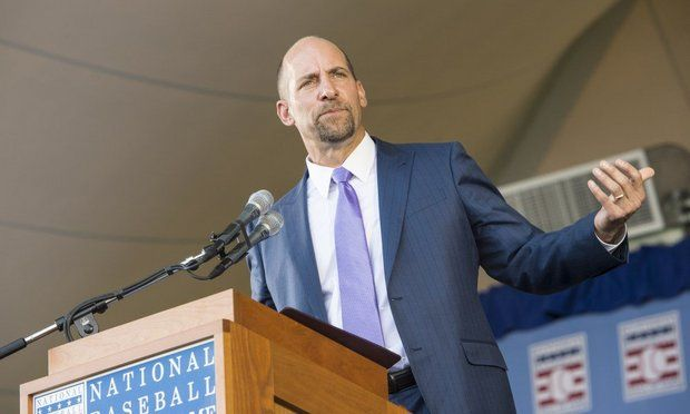 "John Smoltz told parents in the crowd of 45,000 that baseball is ""not a year-round sport ... take care of those dynamic young arms."""