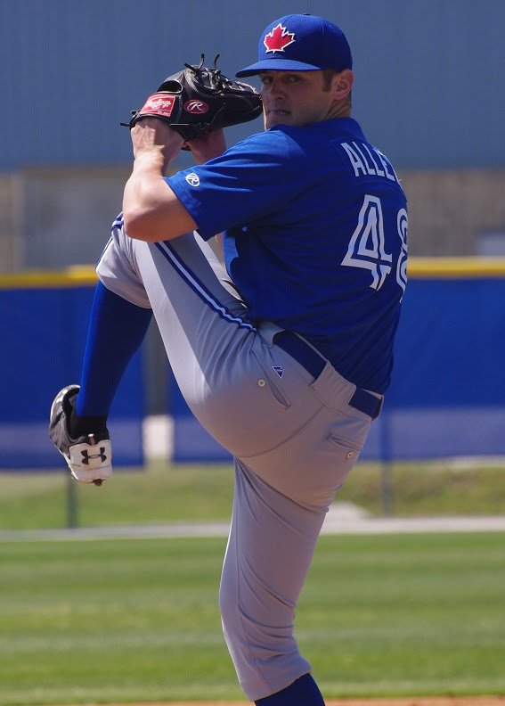 Brad Allen allowed two hits in 3 1/3 innings for class-A Dunedin. Photo: Jay Blue.